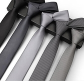 領帶 領帶男士正裝西裝韓版潮流職業黑色商務結婚新郎銀灰色學院風休閒【快速出貨八折下殺】