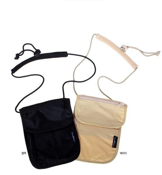 衣童趣♥出國旅行 出差 遊學 必備 掛脖子 旅行防盜包 可放護照 重用物品 小包 兩色可選