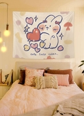 床頭ins風掛布卡通動漫可愛個性背景布房間直播布置裝飾墻布掛毯 熱賣單品