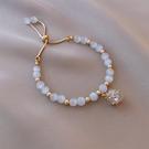 珍珠手鏈 貓眼石手鏈精致氣質小眾設計天然高級感珍珠2021新款閨蜜手串