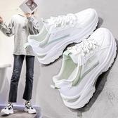 老爹鞋 老爹運動女鞋2020春夏季新款小白鏤空透氣休閒百搭ins潮網鞋網面 裝飾界