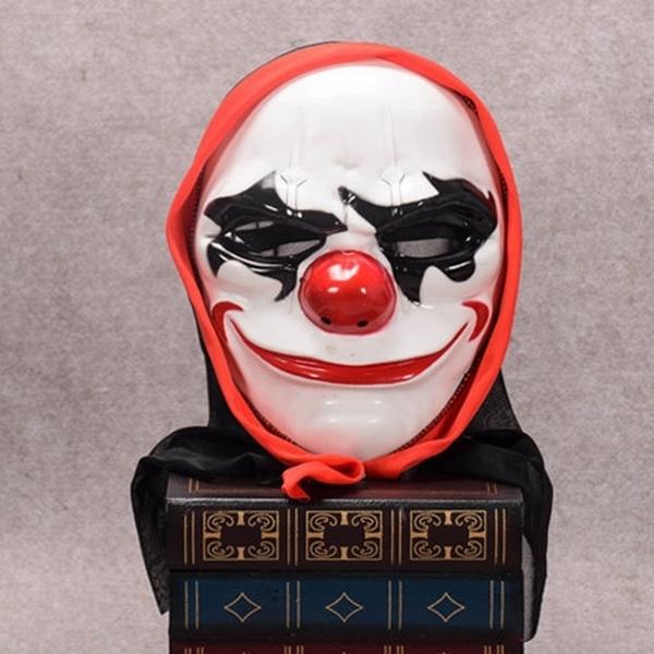 頭紗 圓臉小丑面具 日本忍者 面具 仿古面具 蝙蝠俠小丑 日本藝妓 全臉面具 面罩 面紗 【塔克】
