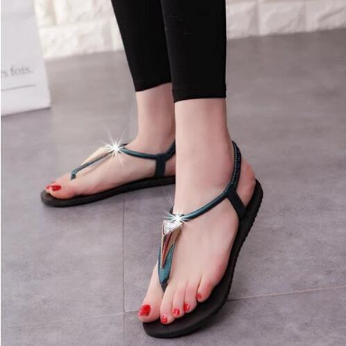 羅馬涼鞋 韓 英倫波西米亞 夾腳涼鞋 沙灘 平底涼鞋 *27小舖【現貨】