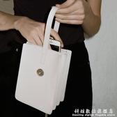 迷你時尚小包包新款韓版簡約多層百搭迷你托特水桶手提手拿包 科炫數位