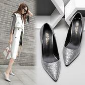 韓版時尚氣質伴娘結婚鞋百搭性感細跟高跟鞋女鞋