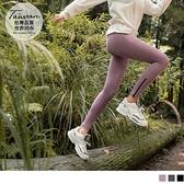 《KS0786》台灣製造.彈力造型口袋褲腳拉鍊運動貼腿褲 OrangeBear