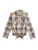 BOBSON 女款下擺綁結式襯衫(34133-30)
