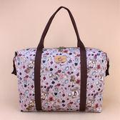 雨朵防水包 U162-022 旅行袋-灰紫撲克動物們的茶會11131