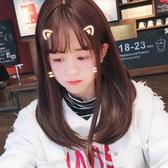 中長假髮(整頂假髮)-空氣瀏海蓬鬆直髮女假髮9色73vl7【時尚巴黎】