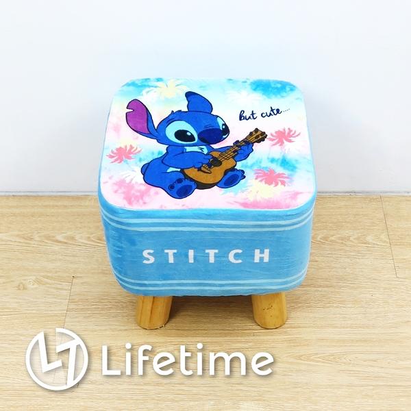 ﹝迪士尼方型絨毛矮凳椅﹞正版 凳椅 換鞋凳 矮凳 椅子 小凳椅 史迪奇〖LifeTime一生流行館〗