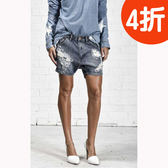 OneTeaspoon 牛仔短褲 破褲HUSK HUSTLER - 女(藍綠)