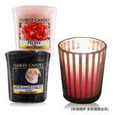 YANKEE CANDLE 香氛蠟燭-仲夏之夜+牡丹(49g)X2+祈禱燭杯