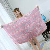 純棉浴巾女生游泳抹胸裹胸浴袍睡衣柔軟透氣