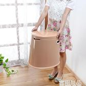 加厚加高可行動馬桶成人孕婦便攜尿盆老人坐便器座便器塑料痰盂 聖誕歡樂購免運