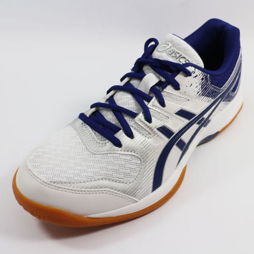 (A9) ASICS 男 排羽球鞋 GEL-ROCKET 9 - 1072A034-102 白x藍 [陽光樂活=]
