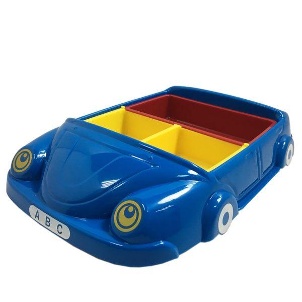兒童汽車造型餐盤 藍