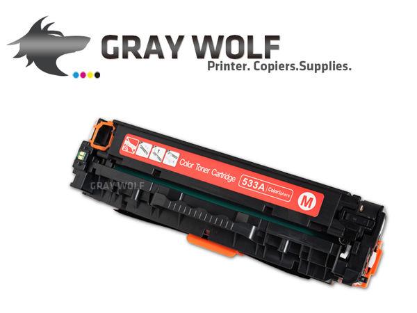 【 速買通】HP CC533A 紅色 相容彩雷環保碳粉匣 適用CP2020/CP2025/CM2320(304A)