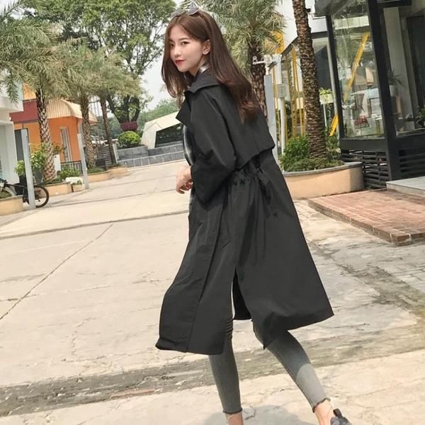 女風衣  復古港味小個子寬鬆中長款風衣上衣韓版超火cec秋季二八月外套女 宜品