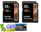 [8美國直購] 記憶卡 2入裝 Lexar 32GB Professional 633x SDHC Class 10 UHS-I/U1 Memory Card 2-Pack Bundle