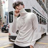 毛衣/針織衫 高領韓版圓領純色修身薄款套頭打底男士