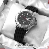 粗曠不鏽鋼手錶 精品范倫鐵諾Valentino腕錶 矽膠錶帶超方便 柒彩年代【NE967】原廠公司貨