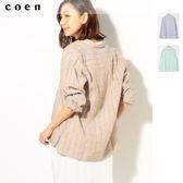 法國亞麻 休閒 立領襯衫 女 免運費 日本品牌【coen】