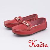 kadia.柔軟舒適 牛皮包鞋(9531-60紅色)