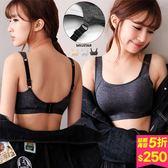 MIUSTAR 舒適機能透氣排汗親膚棉罩杯式運動內衣(共3色,M-L)【NF1982GW】預購