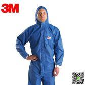 3M 4532防護服 防輻射性顆粒物 防化服 噴漆服 防塵服 藍色 99一件免運