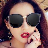 太陽鏡女韓版新款大框復古墨鏡女圓臉個性偏光鏡眼鏡快速出貨下殺89折