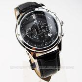 EFR-517L-1A CASIO卡西歐EDIFICE 碼錶晶鑽點綴/黑面/黑皮含折摺扣 EFR-517L-1AVDR