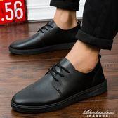 男鞋透氣板鞋學生休閒皮鞋全黑色潮防水工作鞋子 黛尼時尚精品