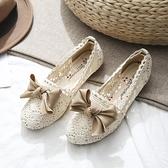 娃娃鞋 老北京布鞋女2021年新款春季蝴蝶結孕婦鞋夏季防滑淺口單鞋女平底