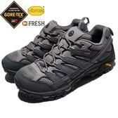 Merrell 戶外鞋 Moab 2 GTX 灰 深藍 Gore-Tex 防水 透氣 越野 休閒鞋 運動鞋 男鞋【PUMP306】 ML02531