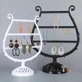 耳環架 琴型飾品架 創意項鍊首飾展示架耳環架耳釘手鍊收納盒首飾架掛架 6色