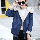 牛仔外套 2018新款少女秋冬寬鬆加絨加厚棉衣短款外套 BF9339『寶貝兒童裝』