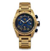 elegantsis 限量 中華民國海軍艦隊款 不鏽鋼手錶/藍x鍍金