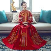 新娘中式婚紗禮服修身敬酒服時尚改良旗袍       SQ7536『寶貝兒童裝』TW