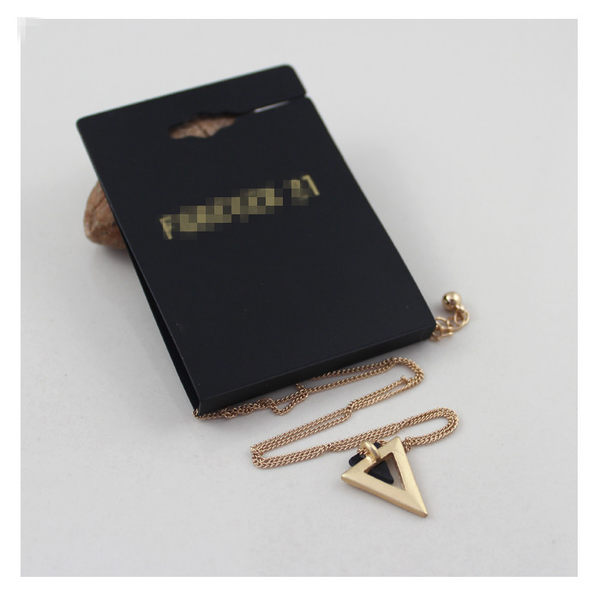 star 日韓系列 -歐美外貿原單飾品 極簡主義無光金色三角短款項鏈-B91