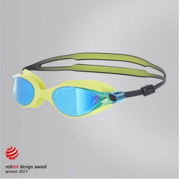 【線上體育】speedo 成人競技鏡面泳鏡 V-class 萊姆黃 SD810964B573