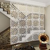 屏風 歐式掛式方形屏風軟玄關隔斷時尚餐客廳臥室掛簾雕花簍空牆貼