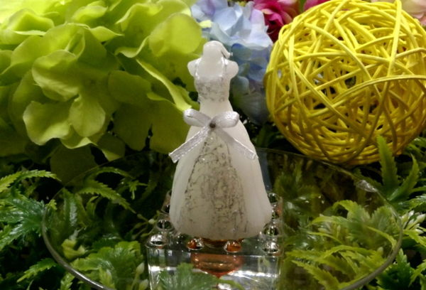 《婚禮小物- 淡雅香氛白紗蠟燭/入》*喜糖/桌上禮/送客禮/二次進場