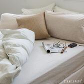 被套床包組-雙人- [小格咖床包x 細條綠被套] 新疆棉自然無印;混搭良品;男子部屋;翔仔居家