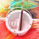 手提式多功能調色筒 水粉水彩丙烯顏料調色盒 多用洗筆桶圓形水桶 伊衫風尚