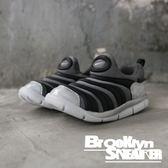 Nike Dynamo Free 黑灰銀 毛毛蟲 休閒 軟Q 小童(布魯克林)  BQ7106-001