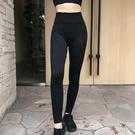 運動褲(長褲)-高腰彈力壓縮瑜珈女褲子73ul18【時尚巴黎】