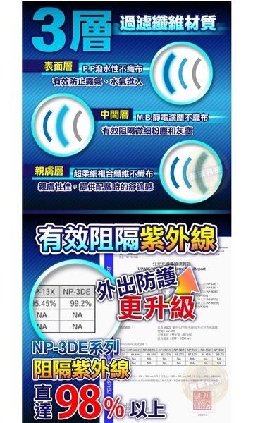 口罩 藍鷹牌 台灣製立體型成人耳掛式口罩 NP-3DE 一盒50入 醫碩科技 感冒 成人口罩