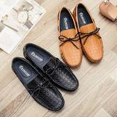 真皮鞋真皮豆豆鞋 休閒男鞋 一腳蹬正裝皮鞋【非凡上品】nx2345