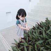 女童純棉吊帶裙兒童女寶寶1-3歲純色百搭洋裝子  伊衫風尚
