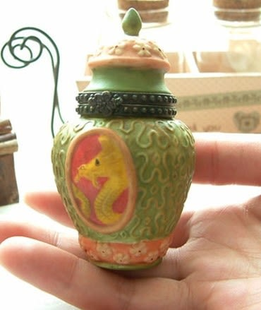 [協貿國際]  陶瓷復古首飾盒(單個價)